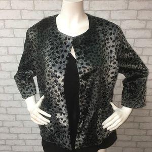 Ruby Rd. Cheetah print jacket -- 14